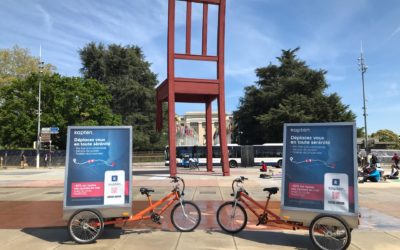 Kapten et MediaShift, quand la mobilité urbaine rencontre le street marketing!
