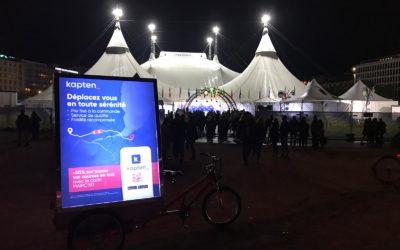 Mediashift et Kapten en campagne publicitaire nocturne à Lausanne