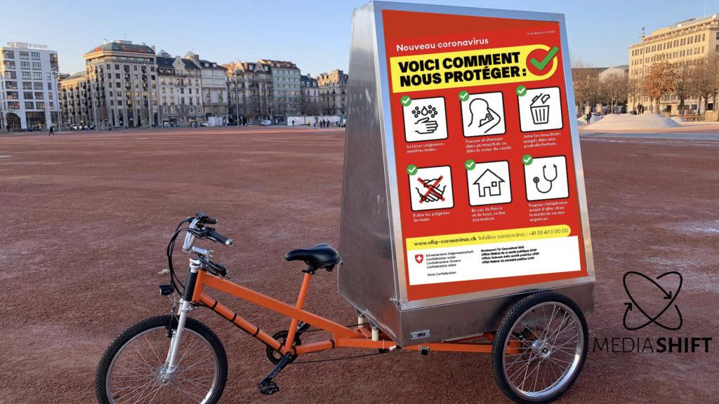 vélo électrique publicitaire