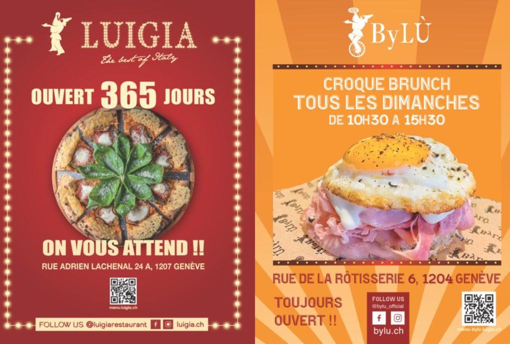 Affiches des vélos publicitaires pour la campagne des restaurants Luigia et ByLÙ